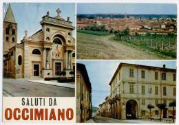 OCCIMIANO, SALUTI E VEDUTINE, VG 1973, FINESTRELLE, FORMATO GRANDE   **** - Alessandria