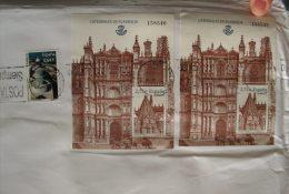 ESPANA SPAIN SPAGNA 2010 CATEDRALES DE PLASENCIA Mini Sheet Ms Used Cover Letter Postal History - 1931-Oggi: 2. Rep. - ... Juan Carlos I