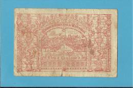 ESTREMOZ - CÉDULA De 5 CENTAVOS - 1921 - PORTUGAL - EMERGENCY PAPER MONEY - NOTGELD - Portugal