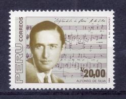 PERU - 1988 - Alfonso De Silva. Composer - Sc 943 - VF MNH - Peru