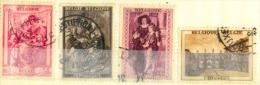 Belgique Y&t N° 504.505.507.508.oblitérés - Belgium