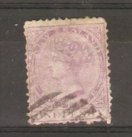 NEW ZEALAND - 1874 QUEEN VICTORIA 1d PALE LILAC USED  Sc 51 - Used Stamps
