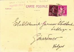 85 - Ch. FREMY - Tissus - Bonneterie - SABLES D'OLONNES - Cachet Ambulant  SABLES D'OLONNE A TOURS - 5.3.33 - Non Classificati