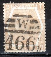1872 1873 Victoria Fili Tige De Rose N° 47 Pl 11 Y&T 3 - Usados