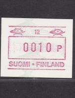 ATM: Finland 1990 Mi.8 Aut.nr. 12 - Mint/**  (M1-20) - ATM - Frama (labels)