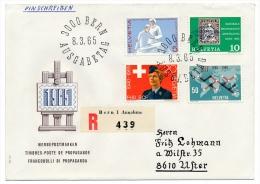 SUISSE - NABRA 1965 + Série Exposition / UIT / Service Féminin / Soins - 12 Enveloppes + 1 Carton Salon De L'auto - FDC