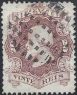 BRAZIL 1866 PEDRO II 20r ROSE LILAS Nº 24 - Brésil