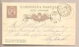 Italia - Cartolina Postale Usata: Umberto I Da 10 Cent. - 1879 - Millesimo 83 - 1878-00 Umberto I