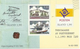 ALAND  BLOC  ANNEE 1993  NEUF - Aland