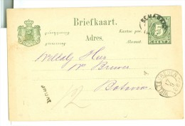 NED. INDIE * HANDGESCHREVEN BRIEFKAART Uit 1887 Van SEMARANG Naar BATAVIA (8313e) - Niederländisch-Indien