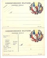 Franchise Militaire 2 Cartes # Cf Scan - Weltkrieg 1914-18
