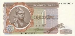 BILLET # ZAIRE # 1981  # 1  ZAIRE  # PICK 19 #  NEUF # - Zaire