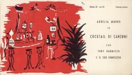 AURELIA  MURRO    BARI  ANNI 50    CARTOLINA INVITO LOCALE TAVERNA AZZURRA  JAZZ BAND   TONY DAMMICCO  CANTANTE - Musica E Musicisti