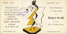 JOLE  CAMPOLIETO   JAM SESSION   BRINDISI   FUTURISMO  BARI  ANNI 50     TAVERNA  AZZURRA  JAZZ BAND   TONY DAMMICCO - Musica E Musicisti