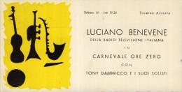 LUCIANO  BENEVENE  DELLA RAI  RADIO   DIS.  FUTURISMO    BARI  ANNI 50     TAVERNA  AZZURRA  JAZZ BAND   TONY DAMMICCO - Musica E Musicisti