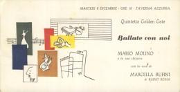 MARIO  MOLINO   MARCELLA RUFINI   RADIO  ROMA    DIS.  FUTURISMO    BARI     TAVERNA  AZZURRA  JAZZ BAND   TONY DAMMICCO - Musica E Musicisti