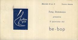 BAND BE  BOP      DIS.  FUTURISMO    BARI   ANNI   50    TAVERNA  AZZURRA  JAZZ BAND   TONY DAMMICCO - Musica E Musicisti