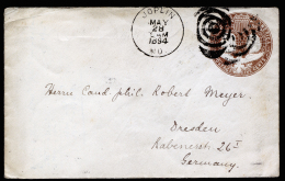 A2526) US Cover Columbian Expo 5 Cents From Joplin 05/28/1894