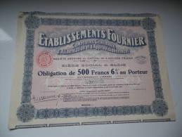 ETS FOURNIER (1928) LOIR ET CHER - Azioni & Titoli