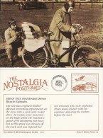 Postcard Richter Rocket Bicycle AVUS Berlin Germany 1931 German Nostalgia Repro - Motorbikes