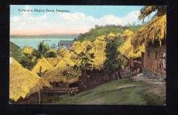 PA-47 VIEW OF NATIVE TOWN PANAMA - Panama