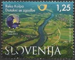 SI 2013-0999 RIVER KOLPA, SLOVENIA, 1 X 1v, Used - Umweltschutz Und Klima