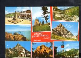 L991 Passo Falzarego ( Belluno )  - Multipla Con Rifugi ( Hutte ) E Funivia - Bel Timbro Sul Retro - Italia