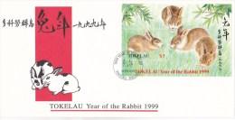 Tokelau 1999 Year Of The Rabbit MS FDC - Tokelau