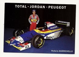 Voitures Formule 1 Total Jourdan Peugeot Rubens Barrichello - Non Classificati