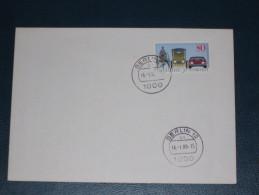 FDC Brief Deutschland Bund 1986 Berlin 100 Jahre Automobil Auto Oldtimer Car  Ersttag - [7] Federal Republic