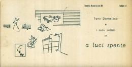 DIS.  FUTURISMO    BARI   ANNI   50    TAVERNA  AZZURRA GOLDEN GATE    JAZZ BAND   TONY DAMMICCO - Musica E Musicisti