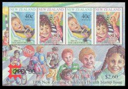 NEW ZEALAND 1996 - Children, Skateboard, CAPEX'96 - Mi B56 I, Sc B152b - Skateboard