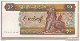Myanmar - Banconota Non Circolata Da 50 Kyats - 1994 - Myanmar