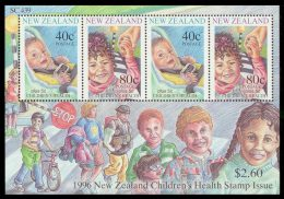 NEW ZEALAND 1996 - Children, Skateboard - Mi B56, Sc B152a - Skateboard