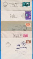 Railway 5 X Special Cancellations  ROMANIA  Cover - Trains