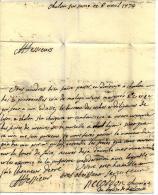 SUPERBE LETTRE 1774 CHANOINE RECORDON à CHALON S SAONE  Pour  MM. ROUX FRERES NEGOCIANTS MARSEILLE TB V. SCANS+ HIST. - Autographes