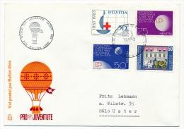 SUISSE - Pro Juventute - Vol Postal Par Ballon Libre - Lausanne 1964 - 4 Enveloppes - Airmail
