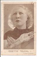 ODETTE TELVAL  Avec Autographe - Caveau De La Bolée , 25 Rue De L'Hirondelle Paris 6è, Octobre 1936 - Artistes