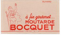 119F) YVETOT -  LOT DE 3 BUVARDS MOUTARDE BOCQUET - NEUFS - Moutardes