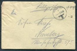 1939 Deutsche Feldpost 26184 Brief (+ Inhalt) To Nurnburg - Germany