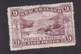 New Zealand, Scott #95, Mint Hinged, Pink Terrace, Rotomahana, Issued 1899 - 1855-1907 Crown Colony