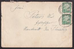 Ei_ Deutsches Reich - Mi.Nr. 373 - Brief - Bahnpoststempel 1925 BRUNSBÜTTELKOOG - WILSTER - Storia Postale