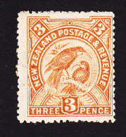 New Zealand, Scott #112, Mint Hinged, Huia, Sacred Birds, Issued 1902 - 1855-1907 Crown Colony