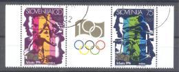 Slovenia Slovenie Slowenien 1996: Mi 151-2 Olympic Games Atlanta Olympische Spiele; Used; Rowing Kayak High Jump Hurdler - Zomer 1996: Atlanta