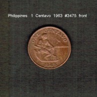 PHILIPPINES    1  CENTAVO   1963  (KM # 186) - Philippinen