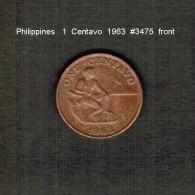 PHILIPPINES    1  CENTAVO   1963  (KM # 186) - Philippines