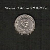 PHILIPPINES    10  SENTIMOS   1978  (KM # 207) - Philippines