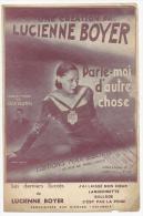 Partition, Une Création De Lucienne Boyer, Parle Moi D'autre Chose, Editions Max Eschig, Frais Fr : 1.60€ - Partitions Musicales Anciennes