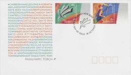 Australia 2000 Paralympic Torch FDC - Briefmarken