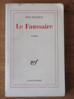 JEAN BLANZAT  LE FAUSSAIRE 1964   NRF GALLIMARD - Livres, BD, Revues